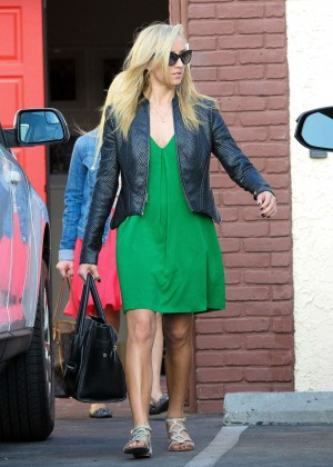 Nastia Liukin in Green Dress at DWTS -10