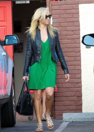 Nastia Liukin in Green Dress at DWTS -11