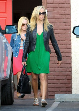 Nastia Liukin in Green Dress at DWTS -15