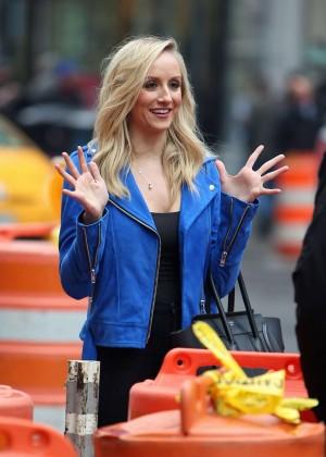 Nastia Liukin - Filming at Times Square in NY