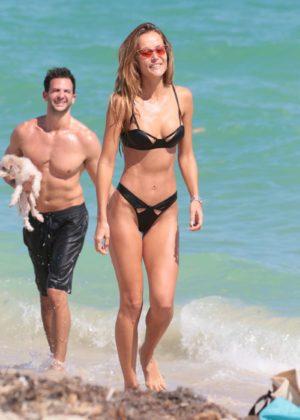 Victoria Xipolitakis in Blue Bikini at the pool in Santorini Pic 14 of 35