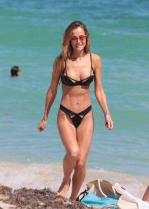 Victoria Xipolitakis in Blue Bikini at the pool in Santorini Pic 15 of 35