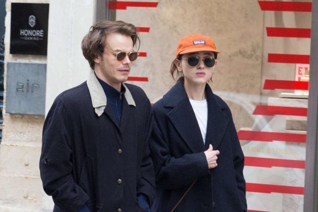 Natalia Dyer and Charlie Heaton: Out and about in Paris -07