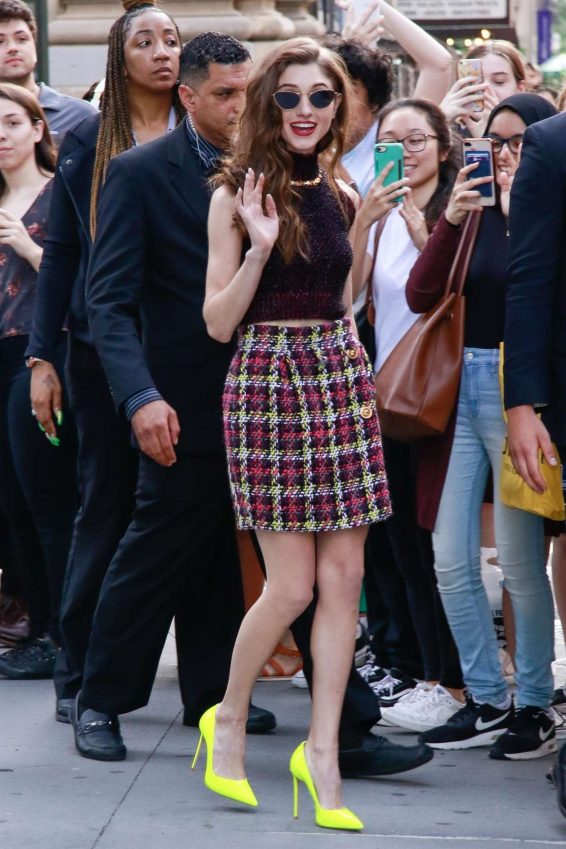 Natalia Dyer - Outside Build Series in NY