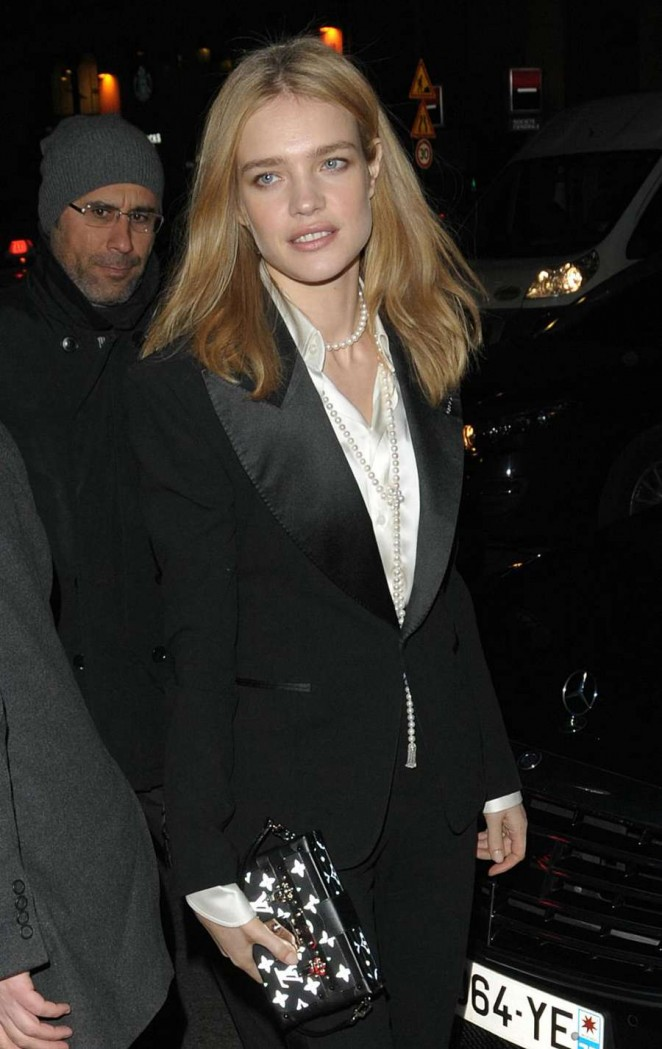 Natalia Vodianova - Arrives at Berluti Fashion Event in Paris