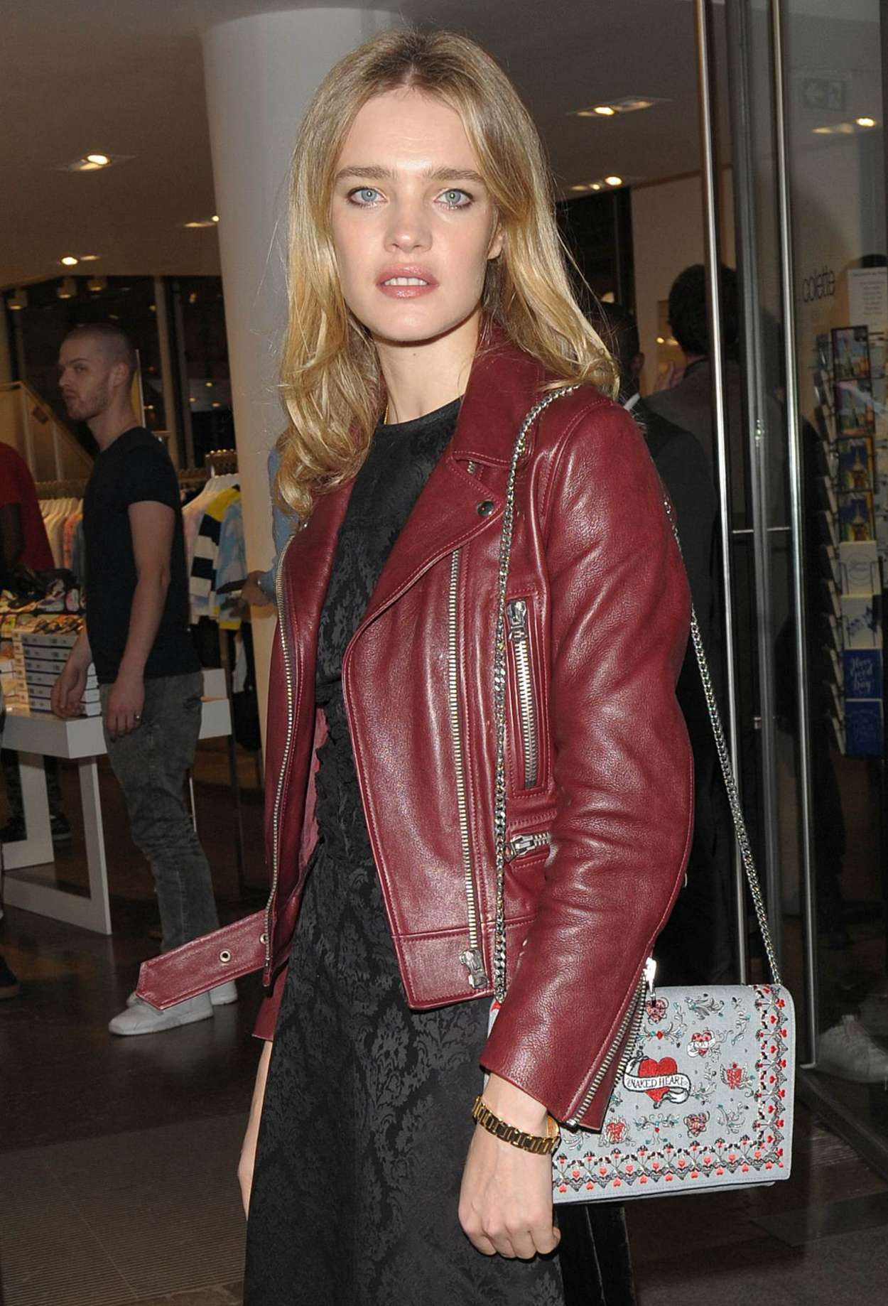 Natalia Vodianova - Arrives at Colette Boutique in Paris