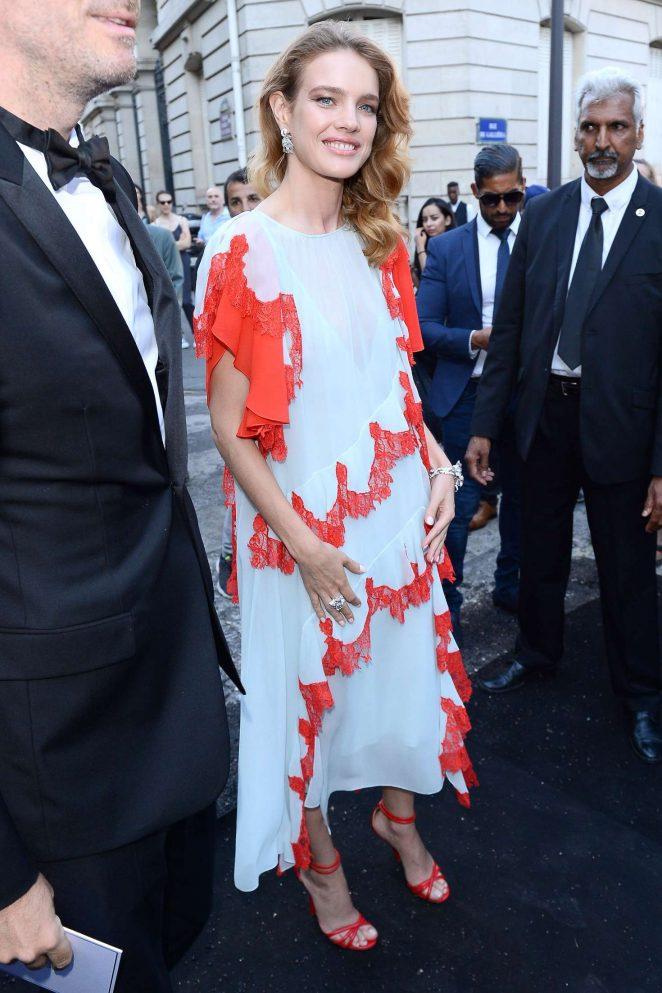 Natalia Vodianova - Arriving at Vogue Dinner Party in Paris