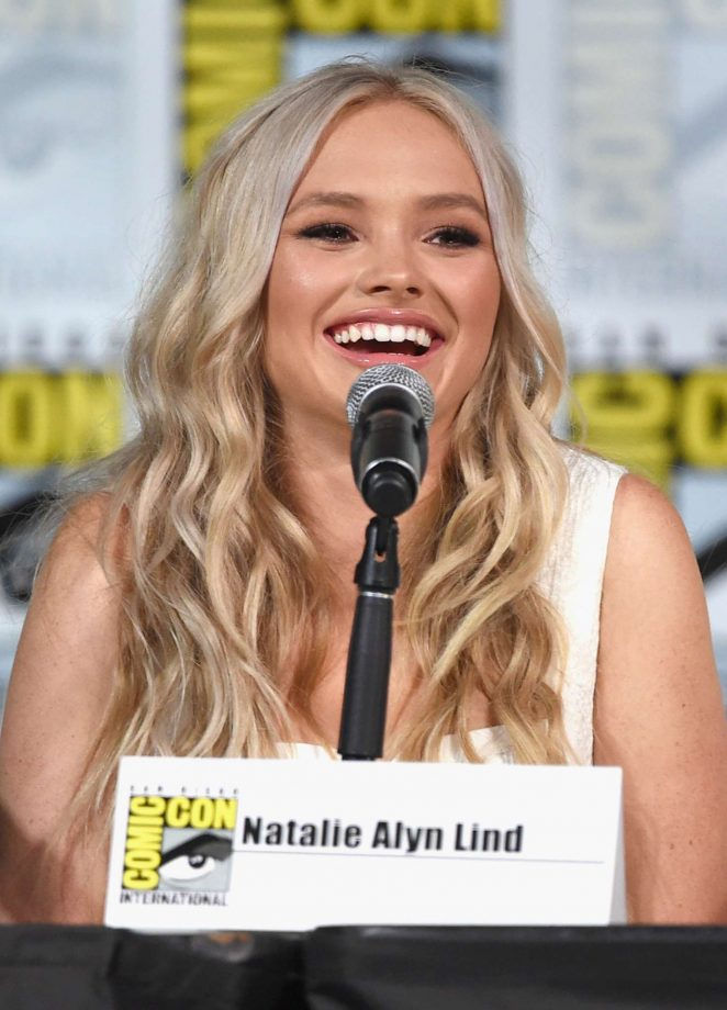 Natalie Alyn Lind - The Gifted Panel at 2017 Comic-Con in San Diego