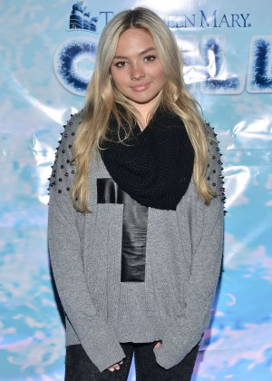 Natalie Alyn Lind - The Queen Mary's CHILL Freezes Over SoCal in Long Beach