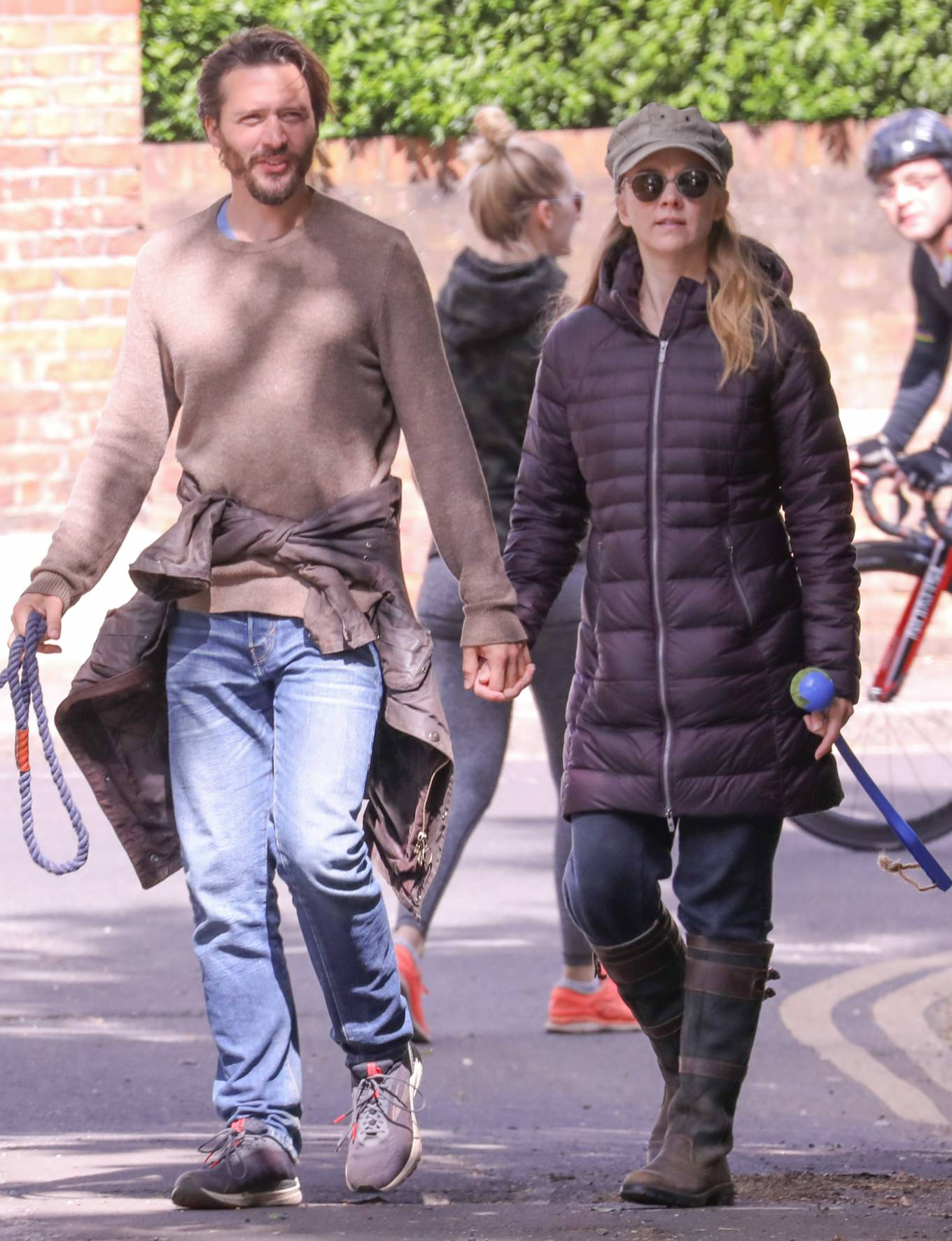 Natalie Dormer 2020 : Natalie Dormer and her boyfriend David Oakes – Takes her dog Indy for a walk in Richmond Park-01