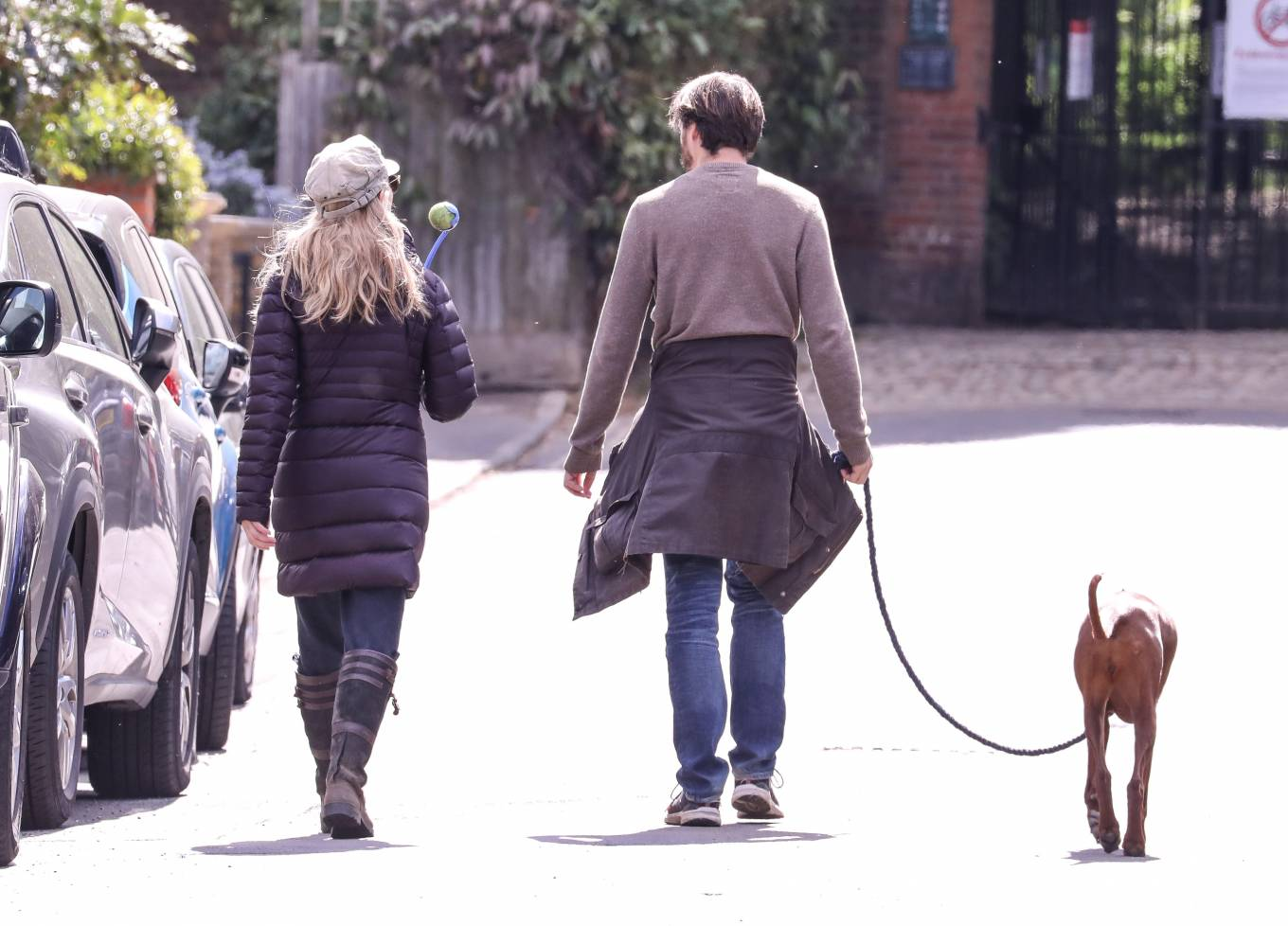 Natalie Dormer 2020 : Natalie Dormer and her boyfriend David Oakes – Takes her dog Indy for a walk in Richmond Park-02