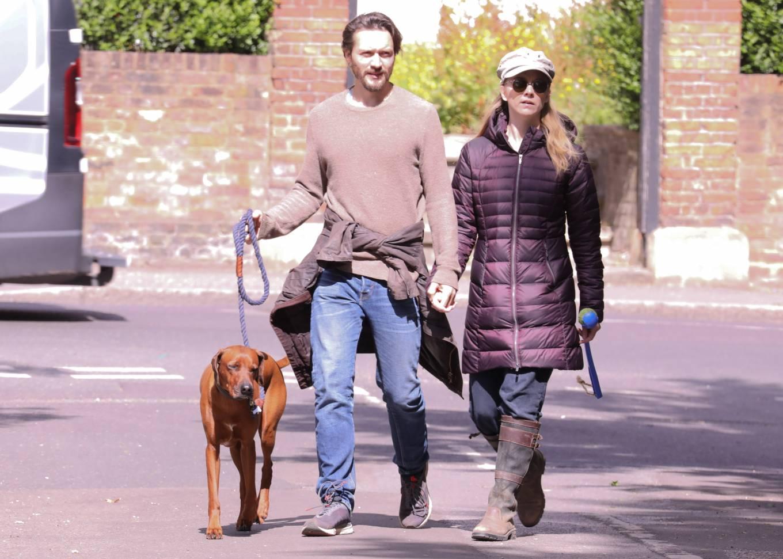Natalie Dormer 2020 : Natalie Dormer and her boyfriend David Oakes – Takes her dog Indy for a walk in Richmond Park-05