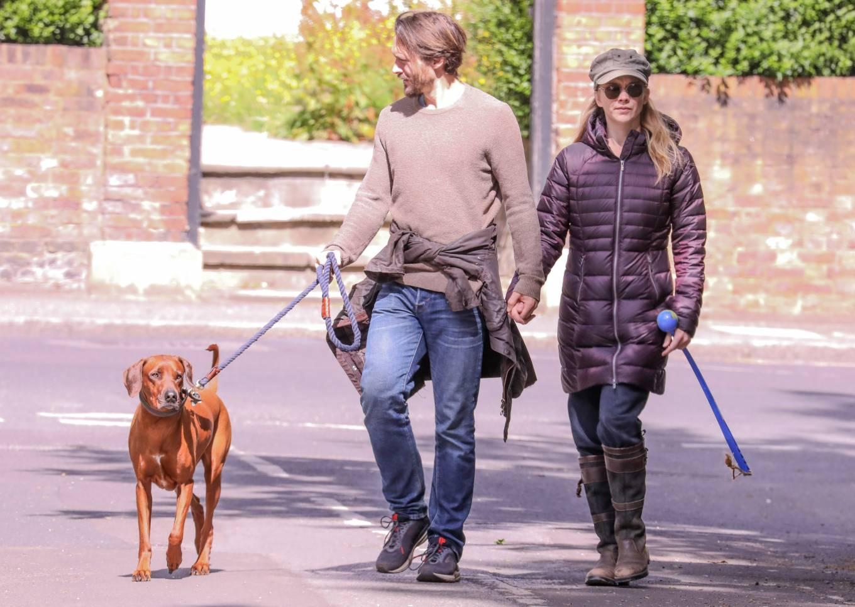 Natalie Dormer 2020 : Natalie Dormer and her boyfriend David Oakes – Takes her dog Indy for a walk in Richmond Park-06