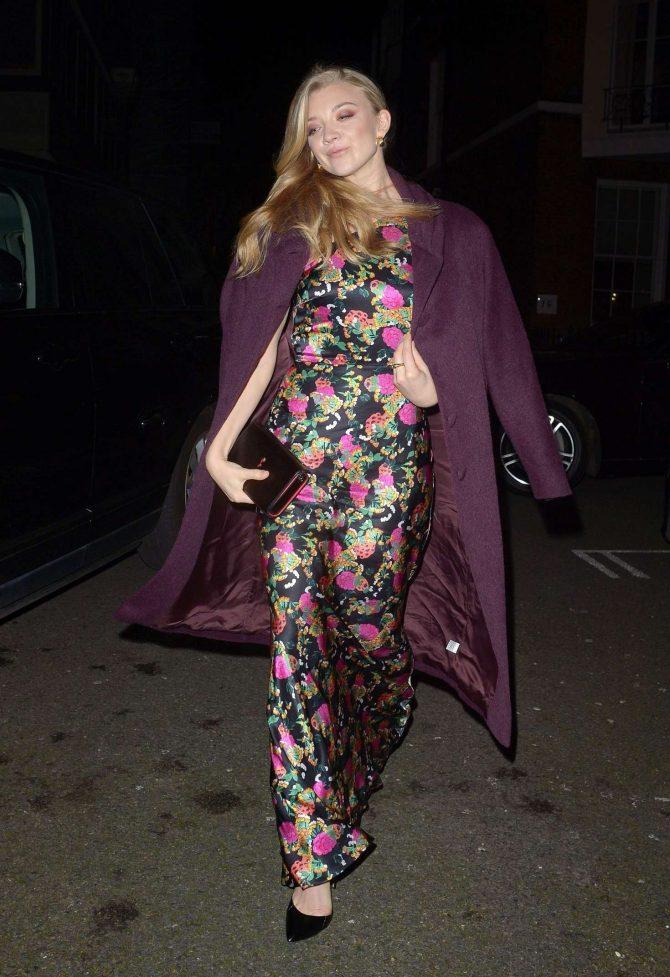 Natalie Dormer – Arriving at The Barbara Broccoli Pre Bafta Dinner in London