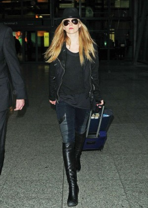 Natalie Dormer at Heathrow Airport in London