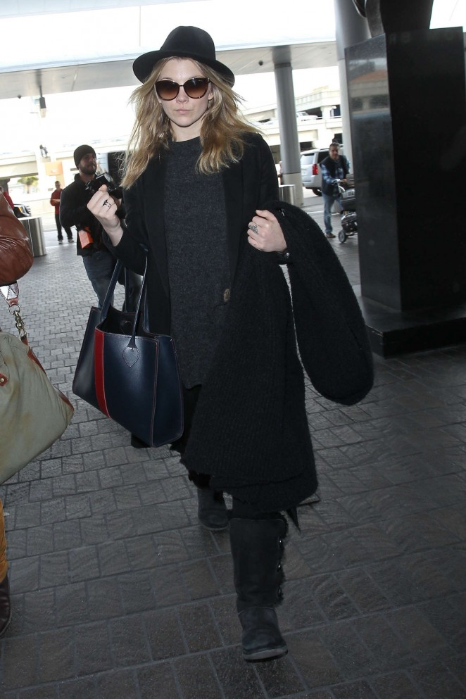 Natalie Dormer at LAX Airport in Los Angeles