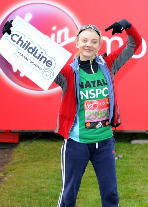 Natalie Dormer at the London Marathon Start