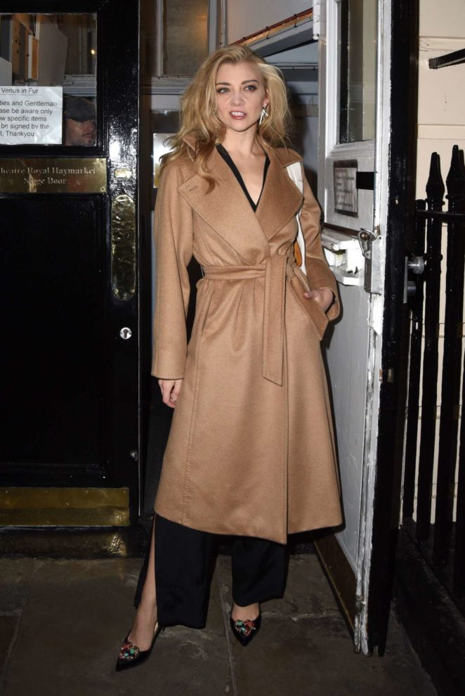 Natalie Dormer at the Royal Haymarket Theatre for a 'Venus In Fur' in London