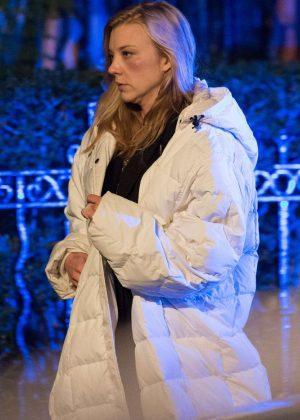 Natalie Dormer - Filming scenes for 'In Darkness' in London
