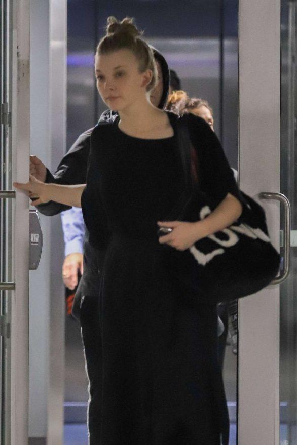 Natalie Dormer 2019 : Natalie Dormer in Black Long Dress-01