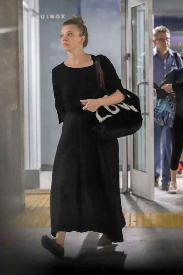 Natalie Dormer 2019 : Natalie Dormer in Black Long Dress-03