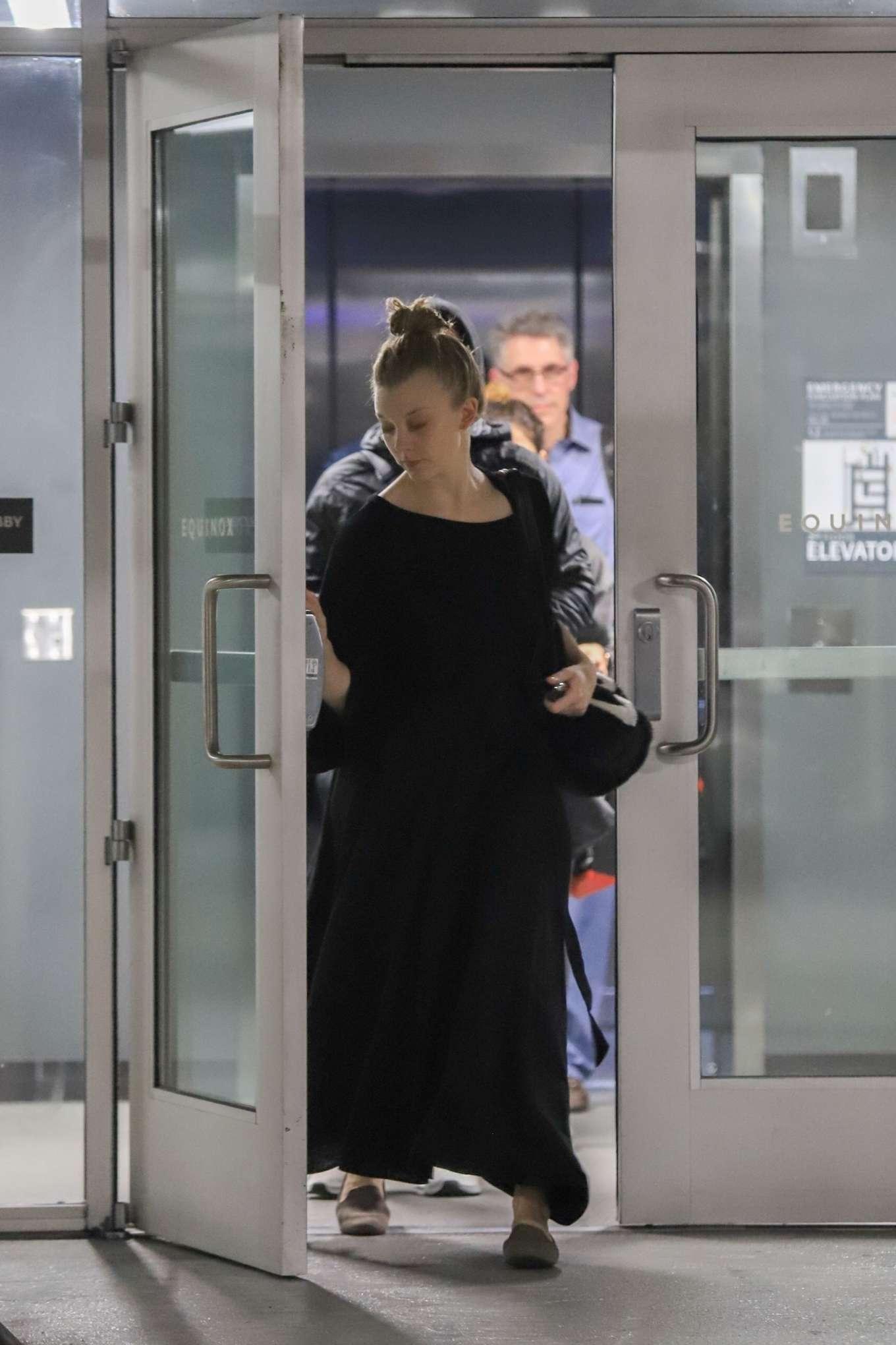Natalie Dormer 2019 : Natalie Dormer in Black Long Dress-06