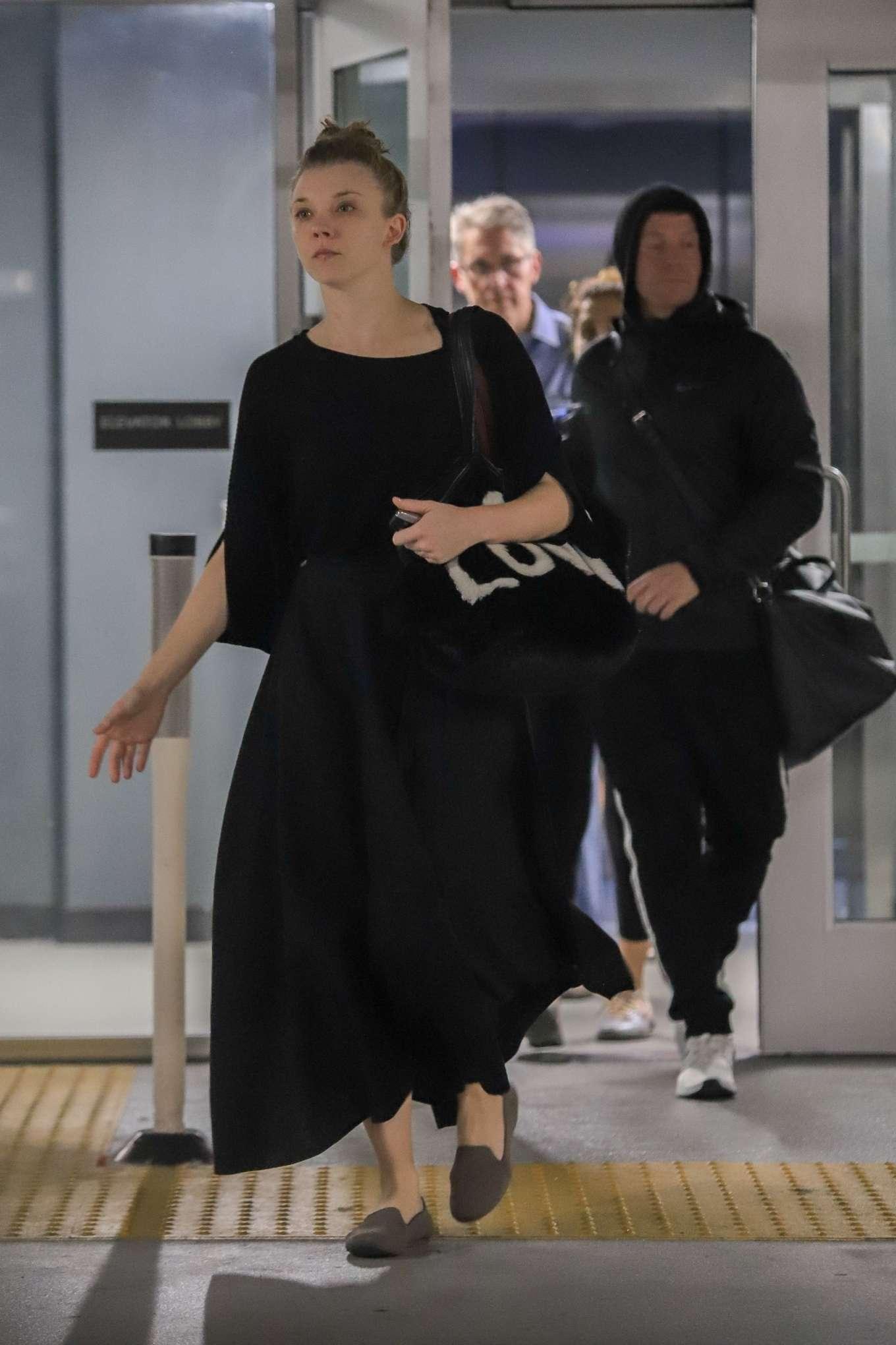 Natalie Dormer in Black Long Dress-09