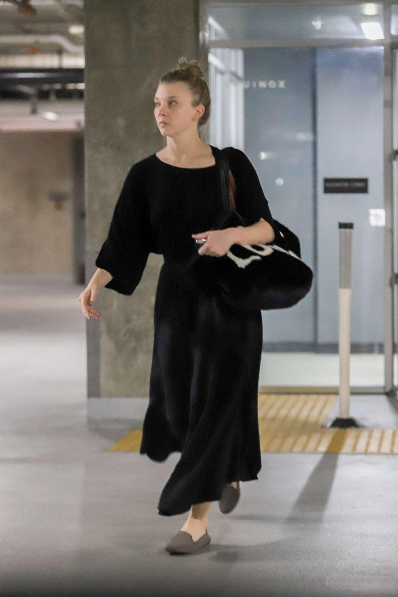 Natalie Dormer 2019 : Natalie Dormer in Black Long Dress-10