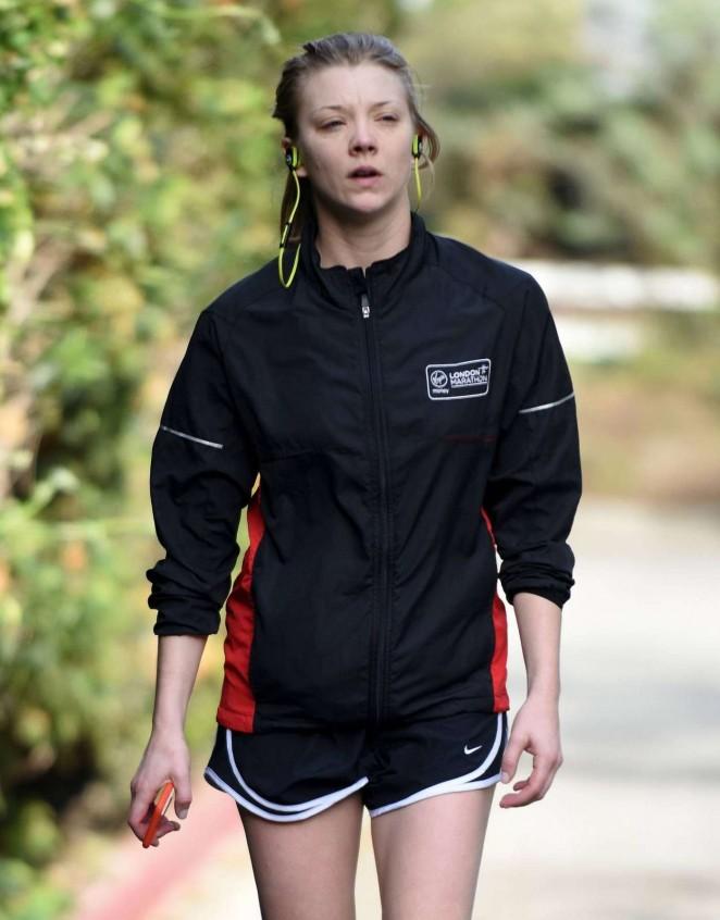 Natalie Dormer in Shorts -02
