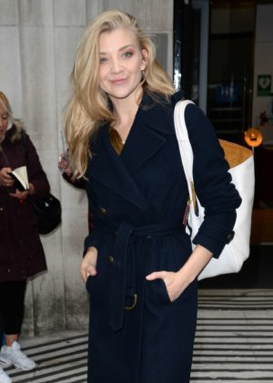 Natalie Dormer - Leaves BBC Radio 2 in London