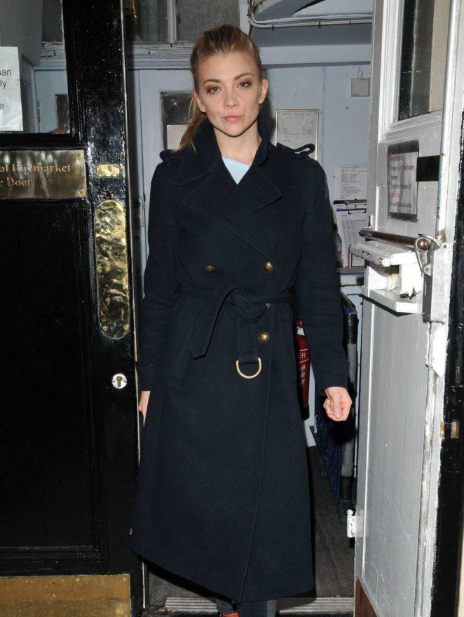 Natalie Dormer – Leaving The Haymarket Theatre after performing in 'Venus in Fur' in London