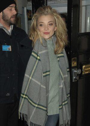 Natalie Dormer - Leaving The Haymarket Theatre in London