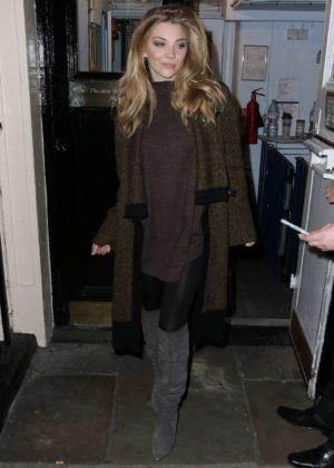 Natalie Dormer - Leaving The Theatre Royal in London