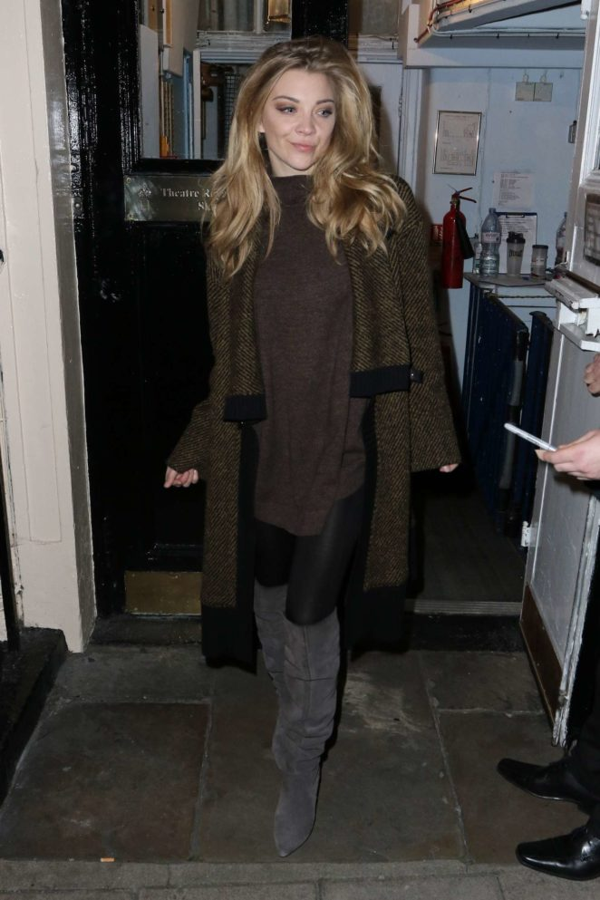 Natalie Dormer - Leaving The Theatre Royal in London