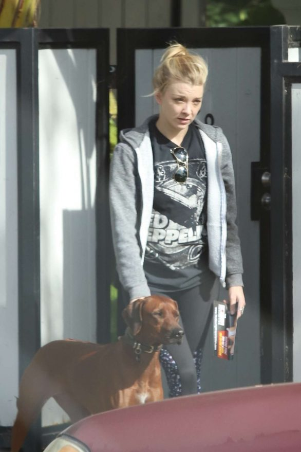 Natalie Dormer - Taking her pup out in Los Angeles