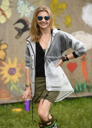 Natalie Dormer - Visits the 2016 Glastonbury Festival in England