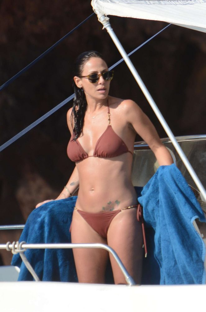 Natalie Imbruglia in Bikini on a Boat in Sicily
