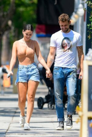 Natalie Joy - With Nick Viall steps out for Lunch in Studio City