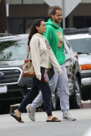 Natalie Martinez - Lunch with friends at Joans on Third in Los Angeles