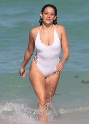 Natalie Martinez - Shows off her bikini body on the beach in Miami Beach - Florida