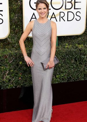 Natalie Morales - 74th Annual Golden Globe Awards in Beverly Hills