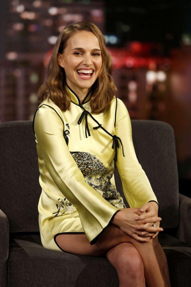 Natalie Portman at Jimmy Kimmel Live! in Los Angeles