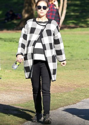Natalie Portman at the park in Los Angeles