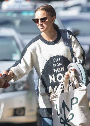 Natalie Portman - Departs Melbourne Airport in Australia