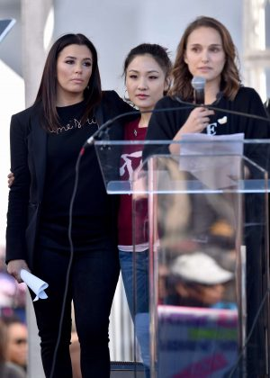 Natalie Portman, Eva Longoria and Constance Wu - 2018 Women's March in Los Angeles