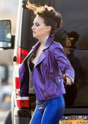 Natalie Portman - Filming 'Vox Lux' in NY