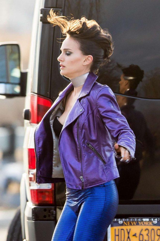 Natalie Portman – Filming 'Vox Lux' in NY