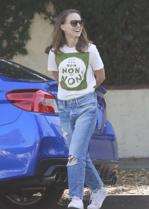 Natalie Portman in Jeans out in Los Angeles