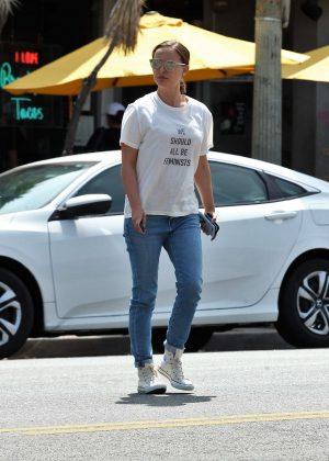 Natalie Portman in jeans out in Los Feliz