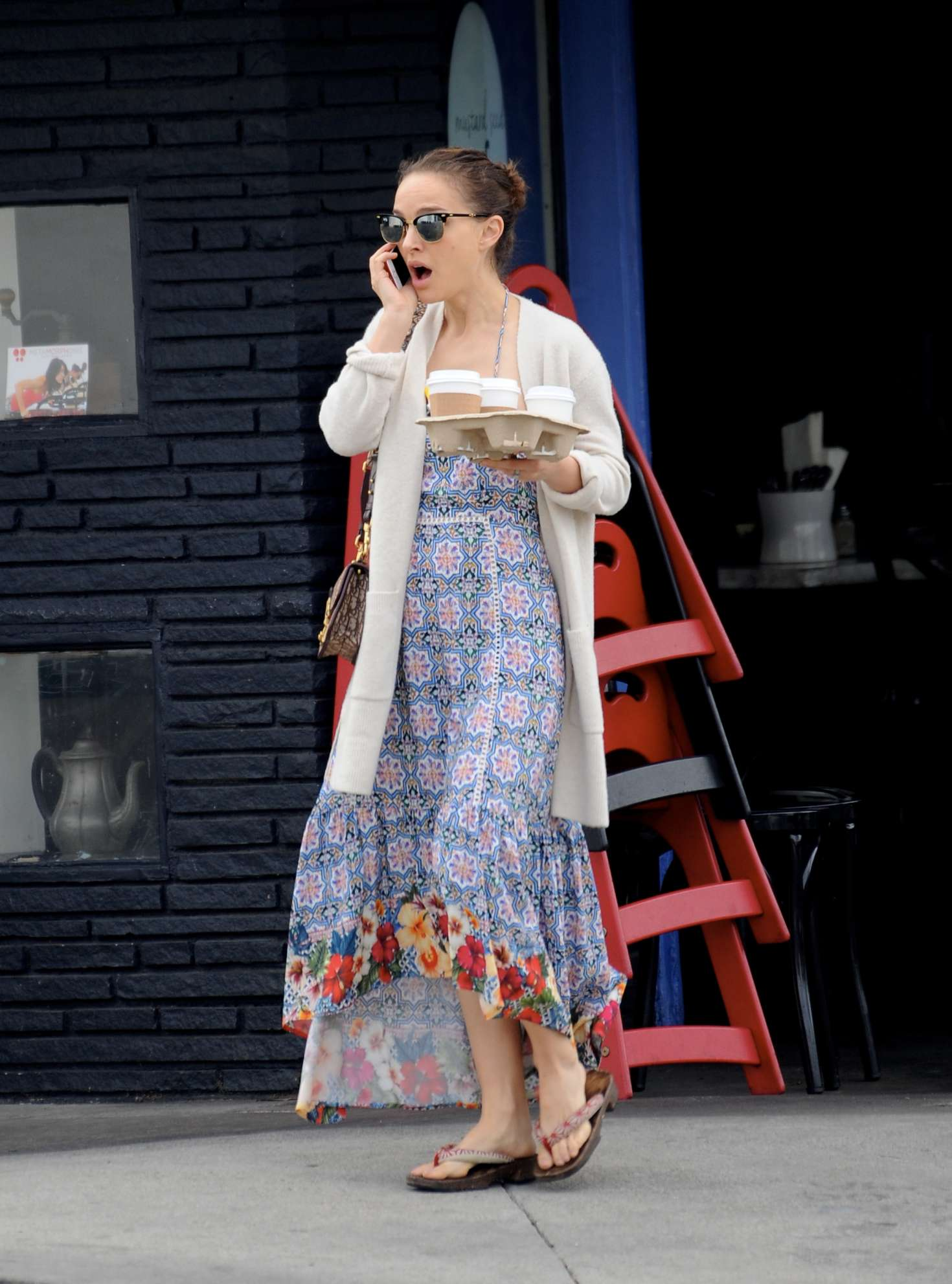 Natalie Portman in Long Dress - Out in Los Angeles